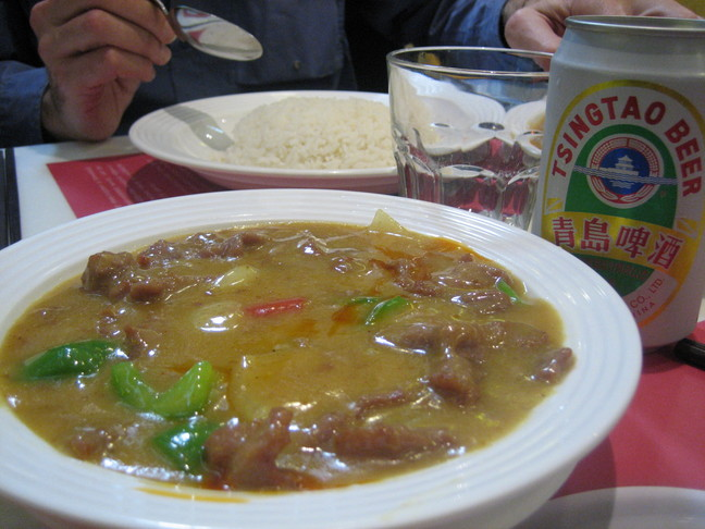 Curry et bière chinoise. Voyage à Hong-Kong. Kowloon.